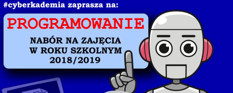 TRWAJĄ ZAPISY NA ZAJĘCIA W ROKU SZKOLNYM 2018/2019